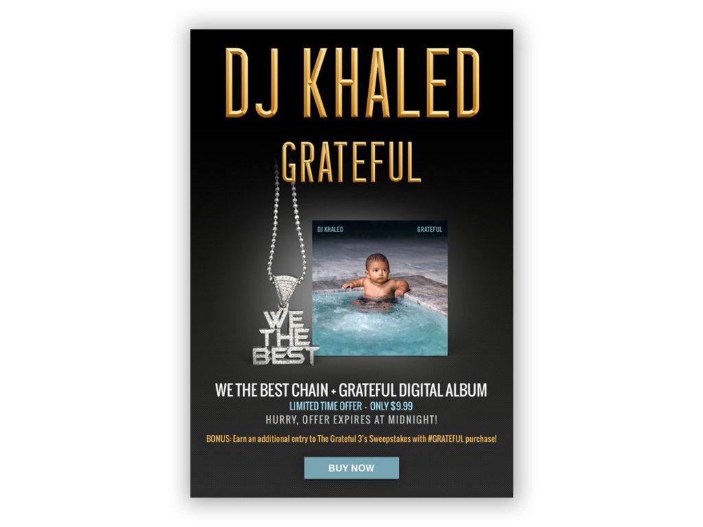 DJ Khaled - We The Best Chain Offer Email