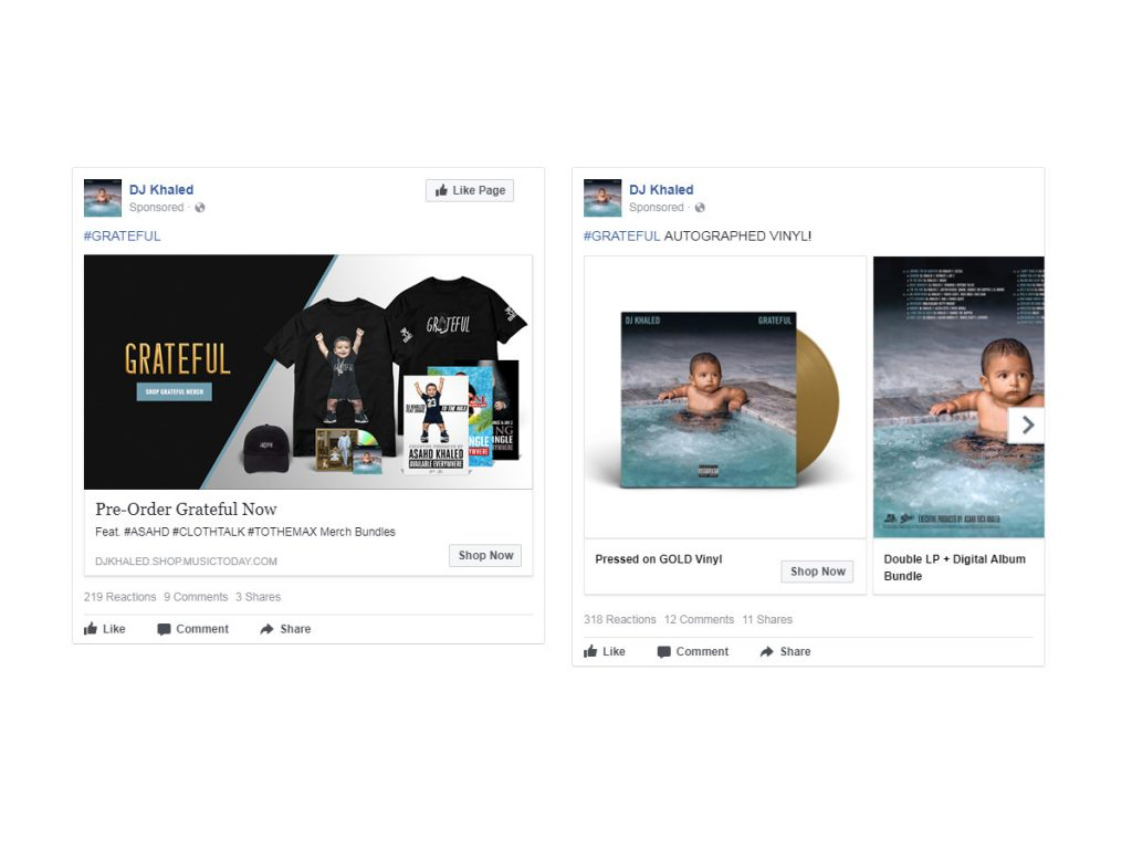 DJ Khaled - Grateful Facebook Advertising