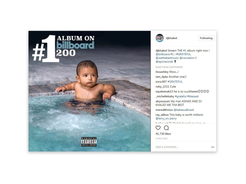 DJ Khaled - Organic Instagram Post