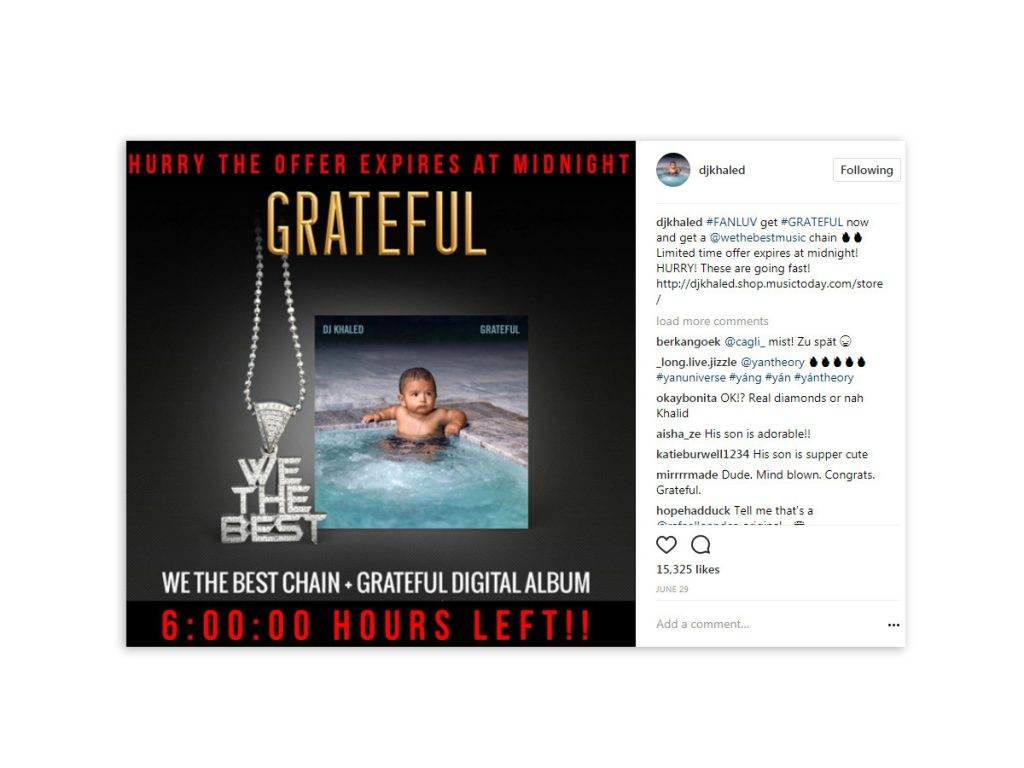 DJ Khaled - We The Best Chain Instagram Post