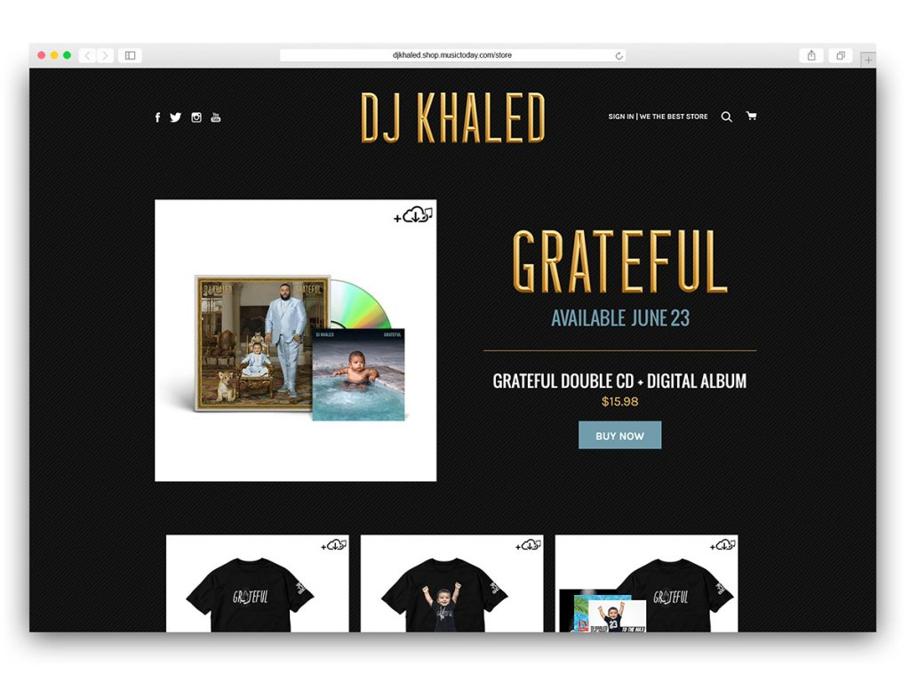 DJ Khaled - Grateful Pre-Order Store