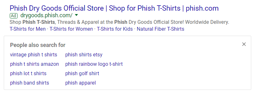 Google Paid Search Result