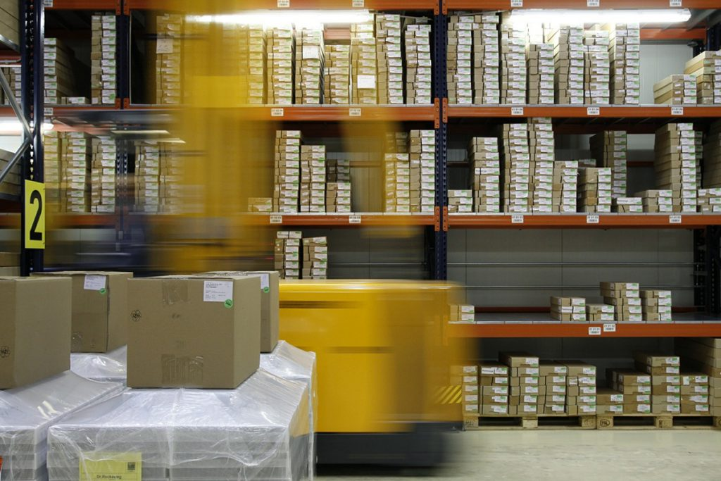 image of packages in warehouse