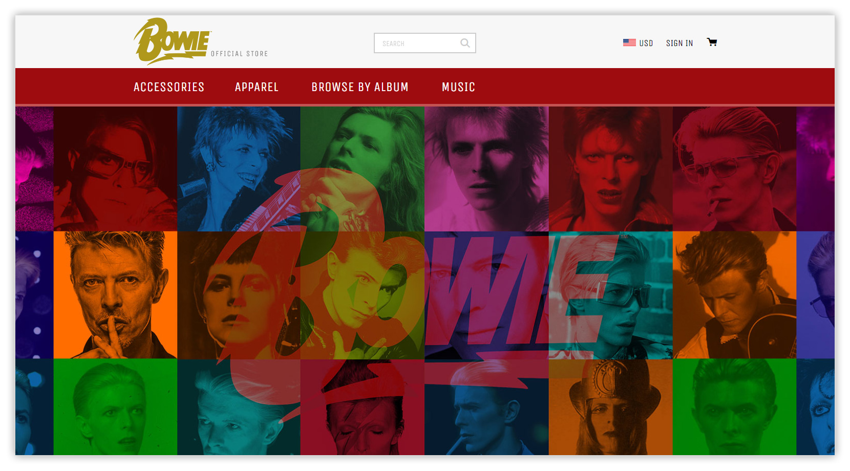 David Bowie Official U.S. Store