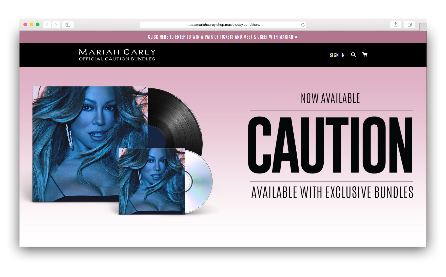 Official Mariah Carey Store